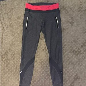Lululemon Inspire Tight II with Mesh Gray/Pink